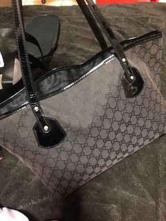 🚚 Gucci 古馳 經典 logo 緹花織紋 購物袋,正版