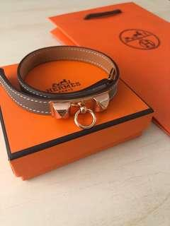 Authentic Hermès Rivale Double Tour Bracelet