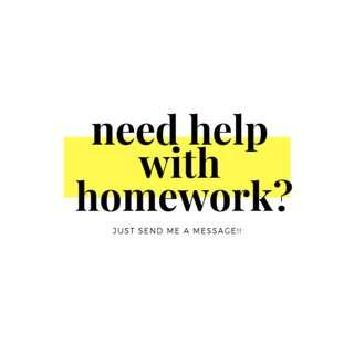 NEED HELP WITH YOUR HOMEWORK??