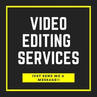 VIDEO EDITING SERVICES AVAILABLE HERE!!