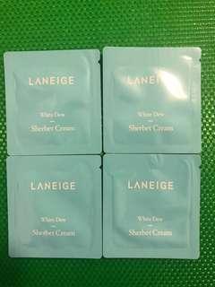 Laneige White Dew Sherbet Cream 水光亮白雪葩面霜 4包
