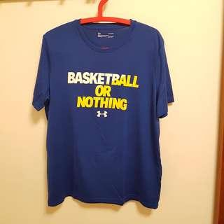 🚚 Under Armour 籃球排汗TBasketball or nothing 勇士隊配色  L號