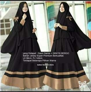 Jual Gamis wanita muslim murah terbaru WA 081221935721