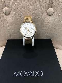Movado Circa Chronograph Ivory Dial Men's Watch