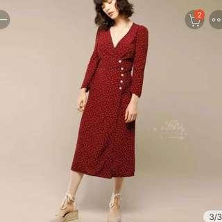 Vintage Retro Style Red Dress