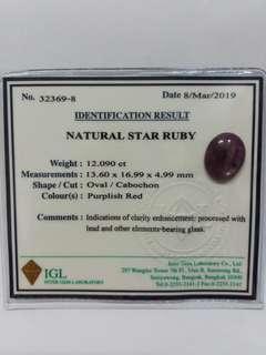 Nutural Star Ruby