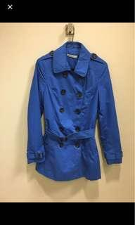 Reduced electric blue coat