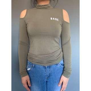 Cut off shoulder top