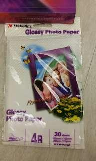 Verbatim 4R Glossy Photo Paper X 30