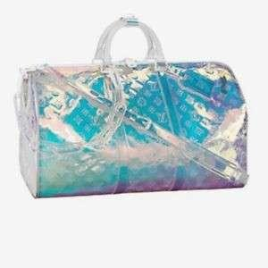 🚚 Louis Vuitton x Virgil Abloh Holographic Keepall Bag Duffell Prism Clear