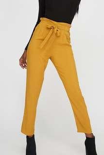 Yellow Paperbag pants