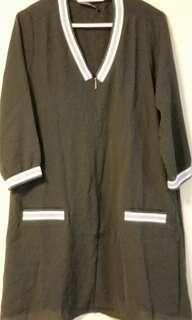 Black dress mid length sleeves
