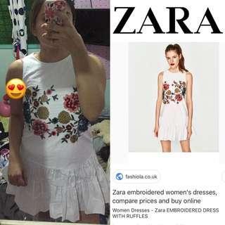 Zara embroided dress.. 2,500