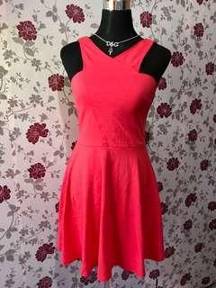 Pink Red Hollister Pretty Dress