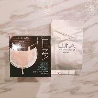 [包郵] Luna Essence Water Pact EX 21 拉花精華粉底霜 氣墊粉底