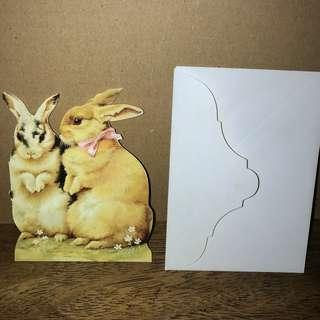 Bunny Easter Egg Easter Greeting card - glossy (imported)