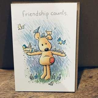 Friendship Counts Greeting Card (imported)