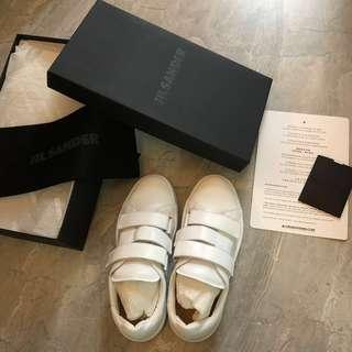 JIL SANDER White Leather 30MM Sneakers 小白鞋 36