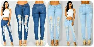 🌺 Ripped Pencil Jeans 🌺