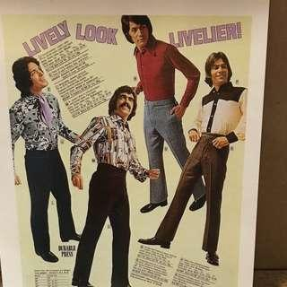 Hello Girls Large Postcards: Hunks from 70s Magazine Ads #3  Justin clothing