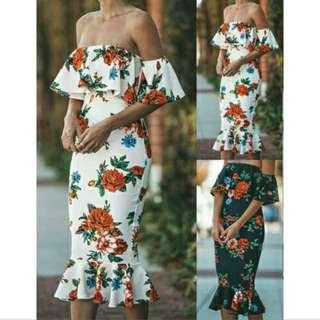 🌺 Floral Off Shoulder Dress 🌺