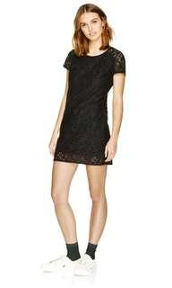 ARITZIA - Talula Oji lace dress in black - size xs