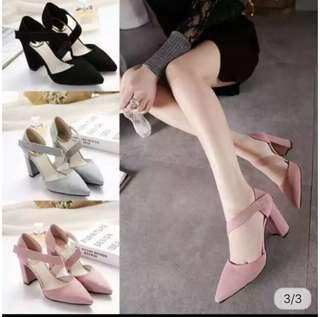 Pointed Toe Block Heels