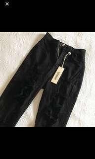 Distressed Black Skinny High Waisted Jeans