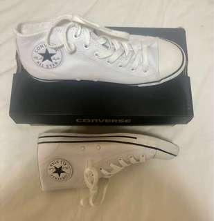 White Leather All-star Converse