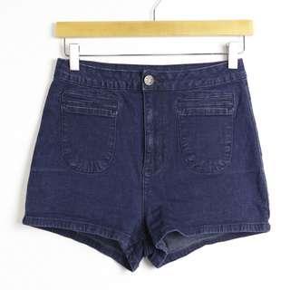 BDG Urban Outfitters shorts dark blue stretch denim 28 high waist high rise