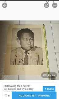 A Original Paper Print of The Late MM Lee Kuan Yew in Colonial  Time.