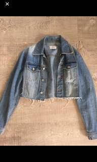 Calvin Klein vintage crop denim jacket