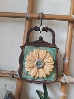 Clay Sunflower with Kettle Frame