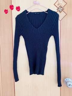 韓國黑色 top