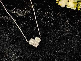 🚚 Fashion S925 sterling silver crystal heart Necklace