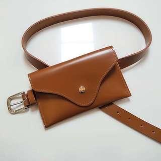 Brown Korean Belt Bag