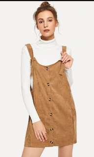 BNWOT Pinafore overall
