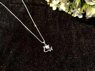 🚚 fashion Cute dog Fully S925 silver necklace