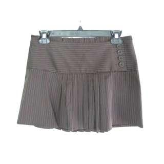 BCBG Pin Stripe Pleated Skirt