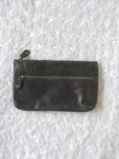 Leather wallet fanny bag