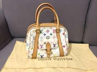 🚚 Excellent Condition Louis Vuitton Priscilla Multicolore White