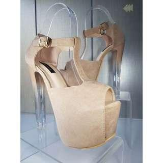 Suede heels 7.5 inches