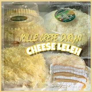Mille crepe durian cheese