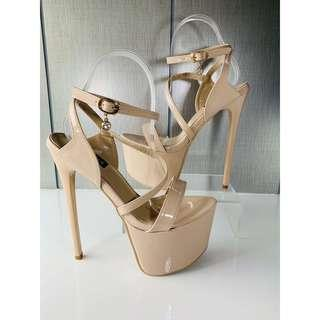 7 inches pageant heels