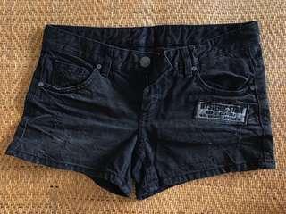 🚚 [全新]Rewind Denim 牛仔刷破短褲 黑色 正韓 M號