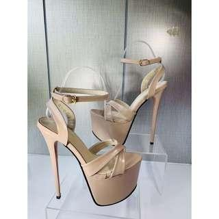7 inches apricot heels