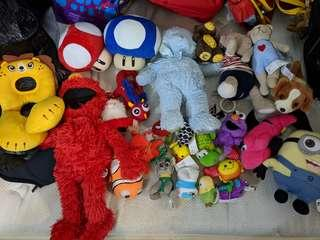 Lot of stuffed animals for kids