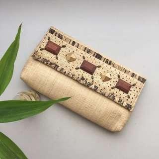 Aranaz Weaved Beaded Clutch Bag