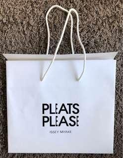 Issey Miyake Pleats Please paper shopping bag x2