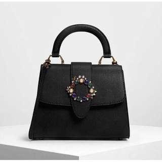 Charles n keith emblished buckle bags Original